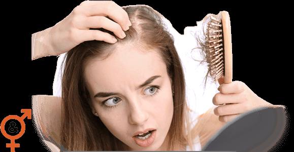 Haarproducten van Volume Hair Plus zijn bijzonder effectief bij een groot aantal haarproblemen, zoals haarverlies wat duidelijk zichtbaar is bij het meisje op deze foto